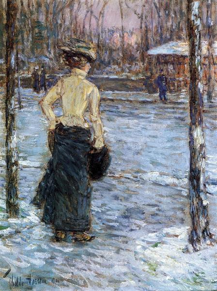 Winter, Central Park, 1901 - Childe Hassam