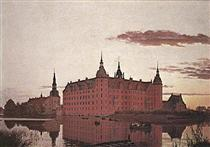 Frederiksborg Palace in the Evening Light - Christen Kobke