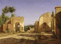 Gateway in the Via Sepulcralis in Pompeii - Christen Købke