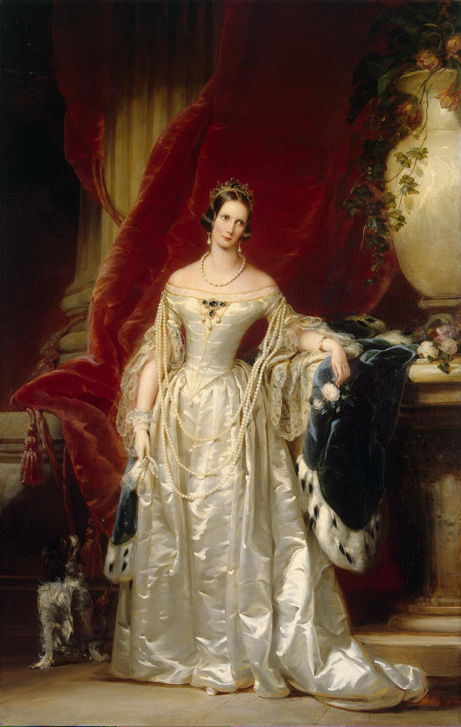 Portrait of Empress Alexandra Fedorovna, 1842