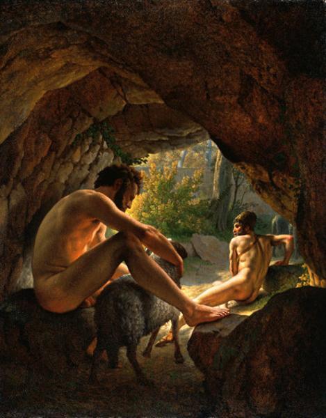 Ulises que huyen de la cueva de Polifemo - Eckersberg Christoffer Wilhelm