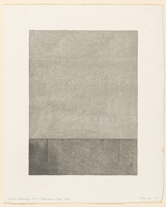 Nine Clearings for a Standing Man #8, 1973 - Christopher Wilmarth