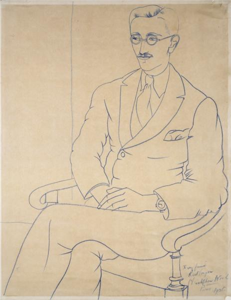 Portrait of Gerald Reitlinger, 1926 - Christopher Wood