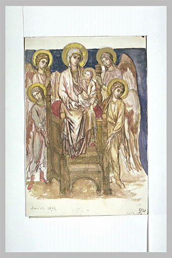 Madonna Enthroned with the Child with Angels - Cimabue