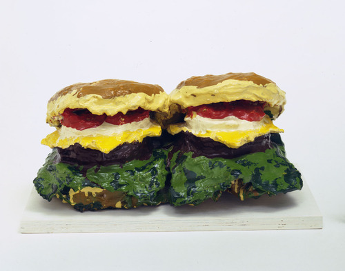 Two Cheeseburgers, with Everything (Dual Hamburgers) - Claes Oldenburg