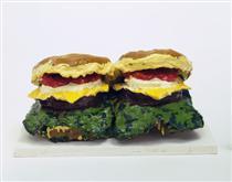 Two Cheeseburgers, with Everything (Dual Hamburgers) - Клас Ольденбург