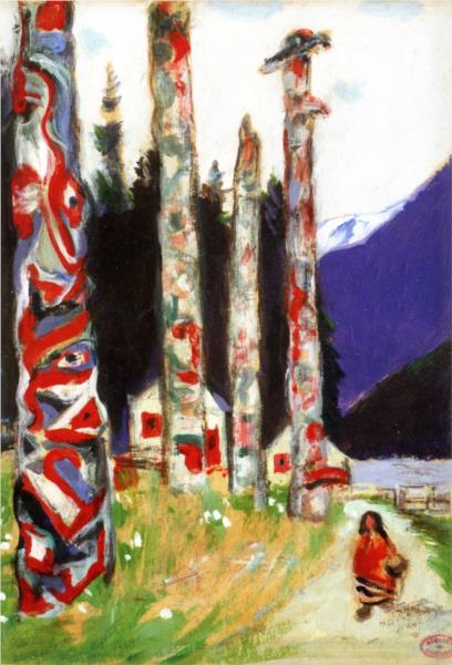 Totems (study for 'Le grand silence blanc), 1928 - Clarence Gagnon