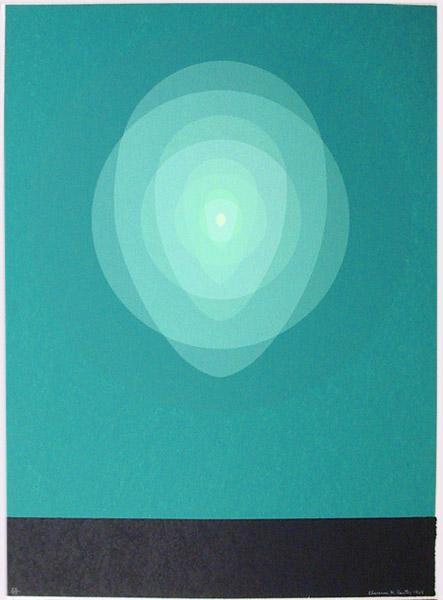 Teal Mandala, 1969 - Clarence Holbrook Carter