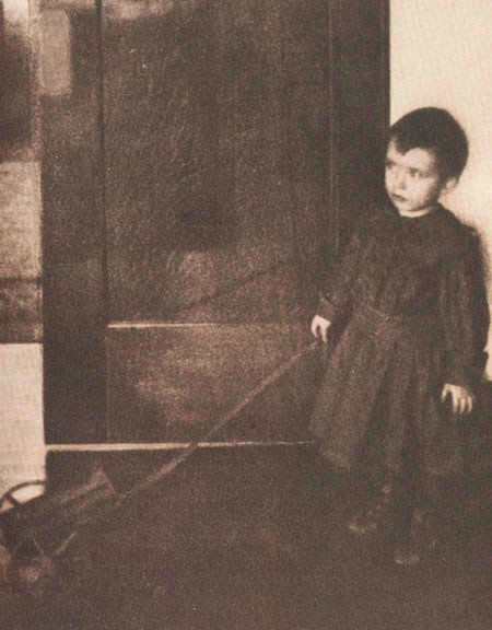Boy with Wagon, 1898 - Clarence White