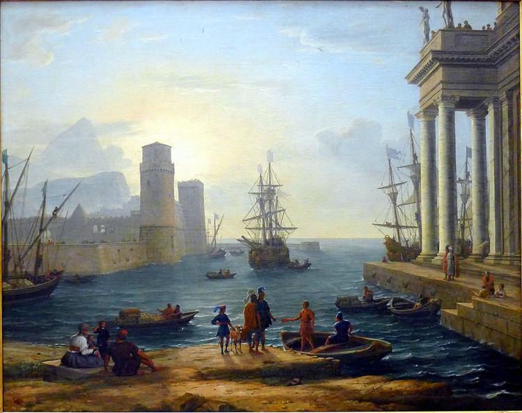 Embarkation of Ulysses, 1646 - Claude Lorrain