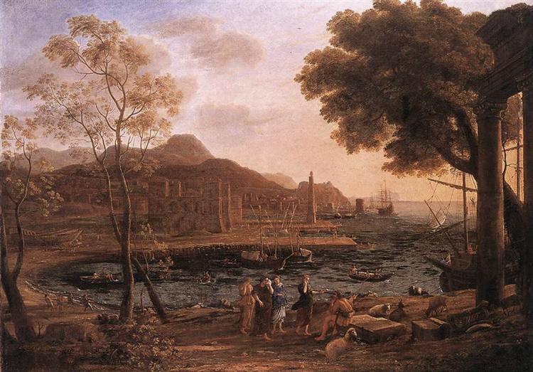 Harbour Scene with Grieving Heliades, c.1640 - Claude Lorrain