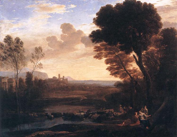 Landscape with Paris and Oenone, 1648 - Claude Lorrain