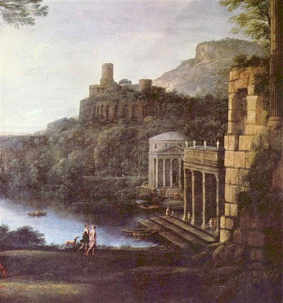 Landscape with the nymph Egeria and Numa, 1669 - Claude Lorrain