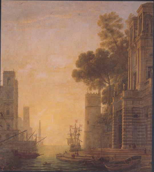 The Embarkation of St. Paula in Ostia - Claude Lorrain