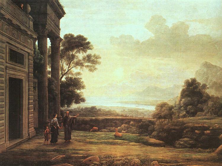 The Expulsion of Hagar, 1668 - Claude Lorrain