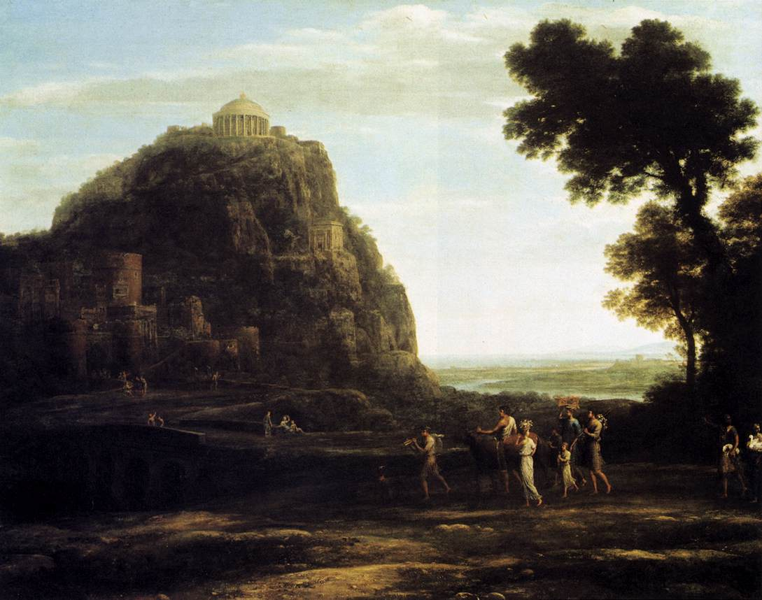 Claude Lorrain, (1600-1682) View-of-delphi-1672