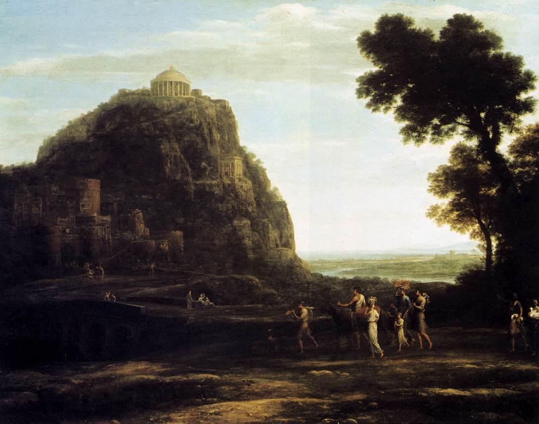 Claude Lorrain, (1600-1682) View-of-delphi-1672