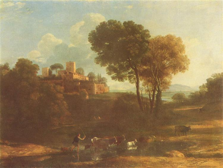 Villa in the Roman Campagna, c.1645 - Claude Gellée