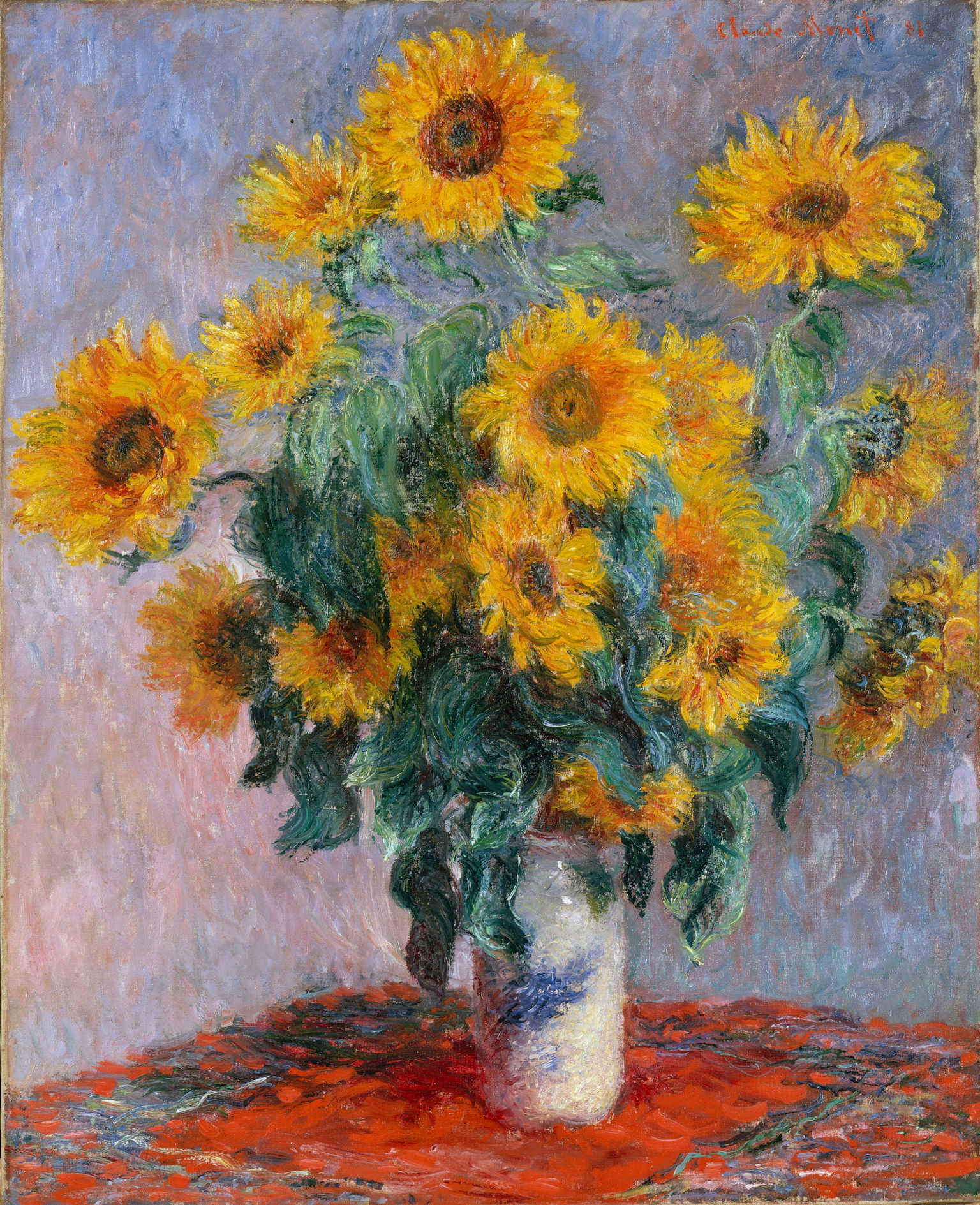 Bouquet of sunflowers 1880 claude monet for Claude monet artwork