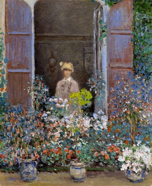 Camille Monet at the Window, Argentuile, 1873 - Claude Monet