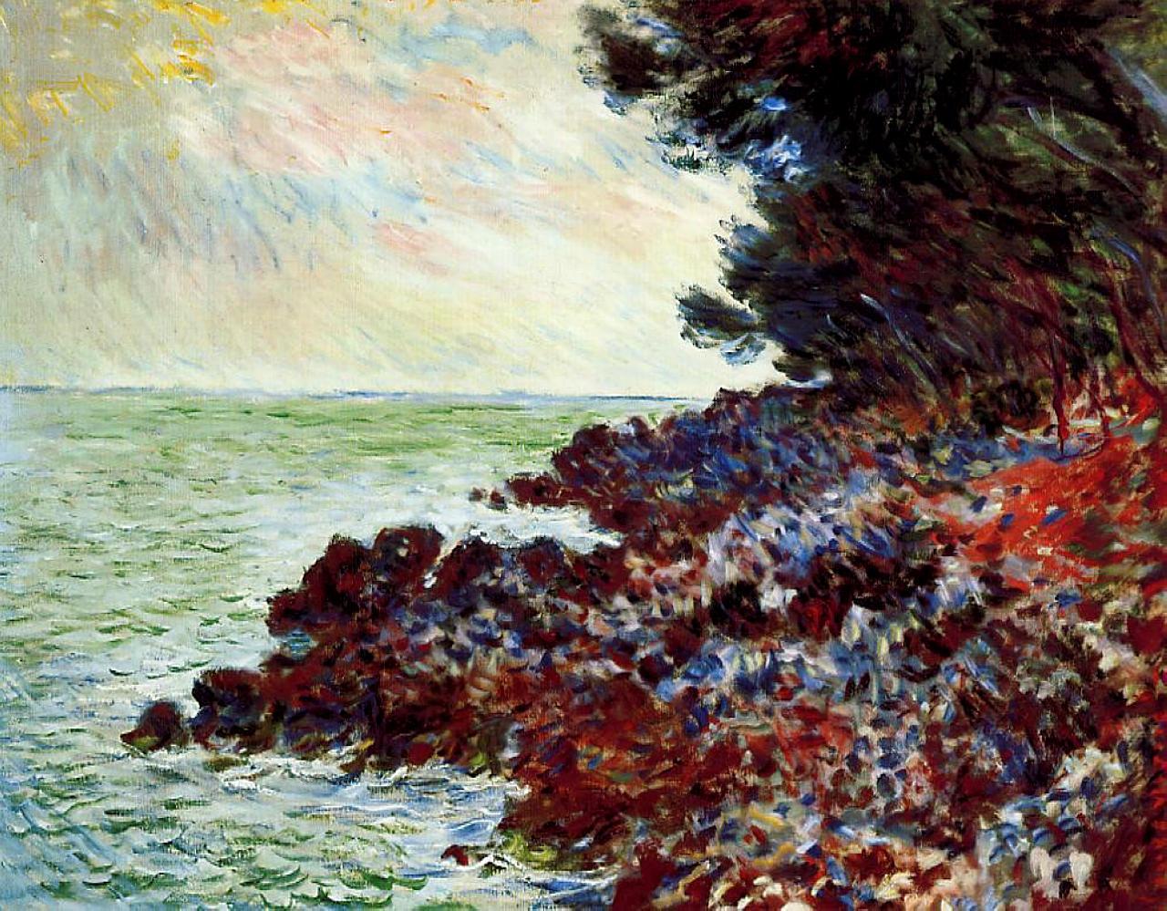 Обои Пейзаж, картина, Жуан-ле-Пен, Клод Моне. Разное foto 13