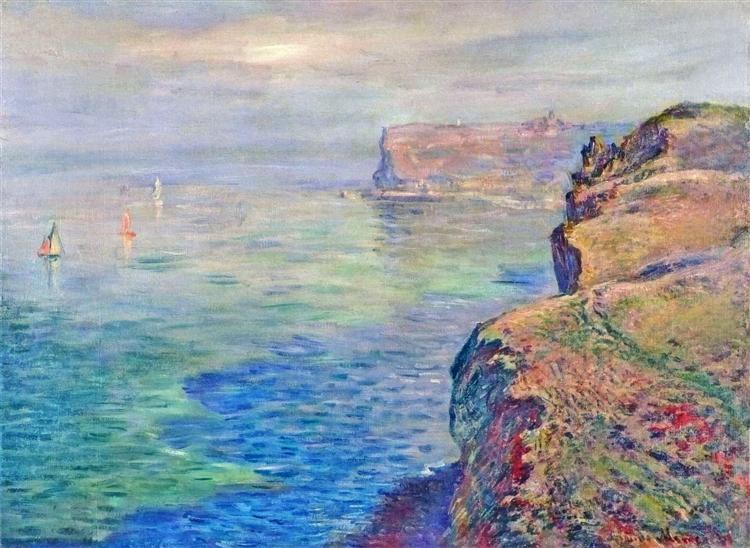 Cliff at Grainval near Fecamp, 1881 - Claude Monet