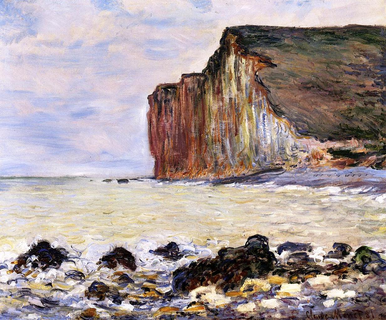 cliffs of les petites dalles claude monet. Black Bedroom Furniture Sets. Home Design Ideas