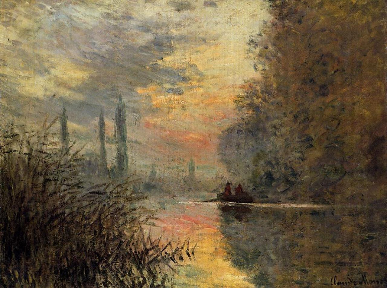Evening At Argenteuil 1876 Claude Monet Wikiart Org