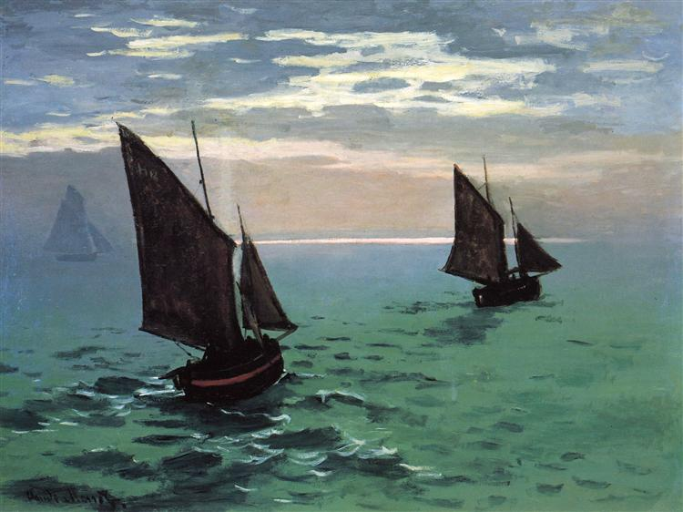 Fishing Boats at Sea, 1868 - Claude Monet