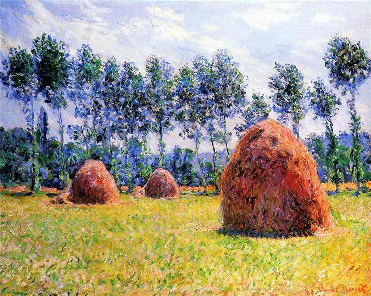 Haystacks at Giverny, 1884 - Claude Monet