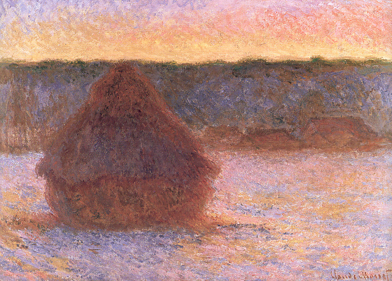 claude monet grainstack sunset essay Sunset in venice is an oil painting by claude monet that was painted in 1908  the painting is owned by national museum cardiff, the national art gallery of.