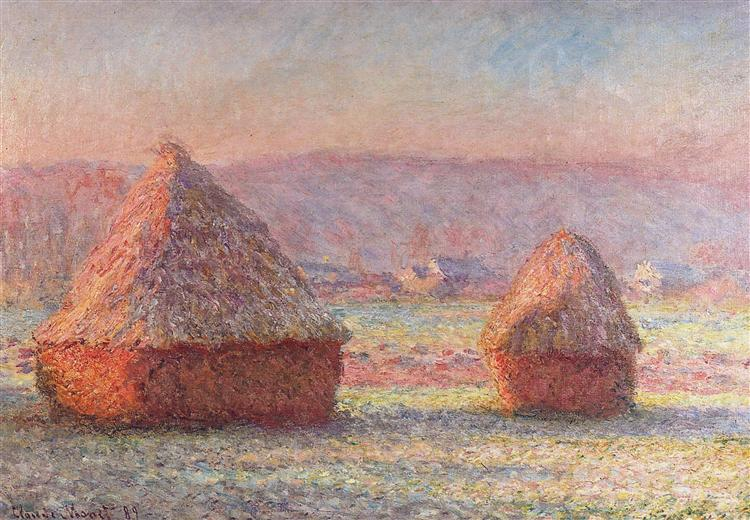 Grainstacks, White Frost Effect, 1888 - 1889 - Claude Monet