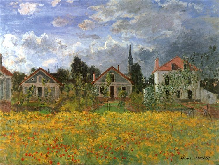 Houses at Argenteuil, 1873 - Claude Monet