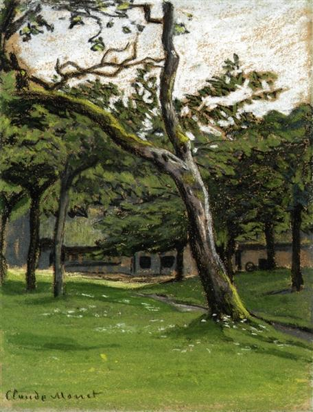 Norman Farm through the Trees, c.1886 - Claude Monet