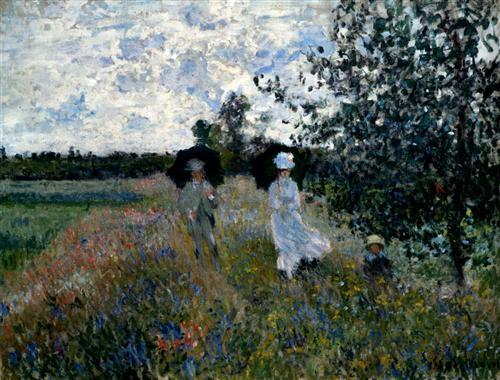 Promenade near Argenteuil - Claude Monet