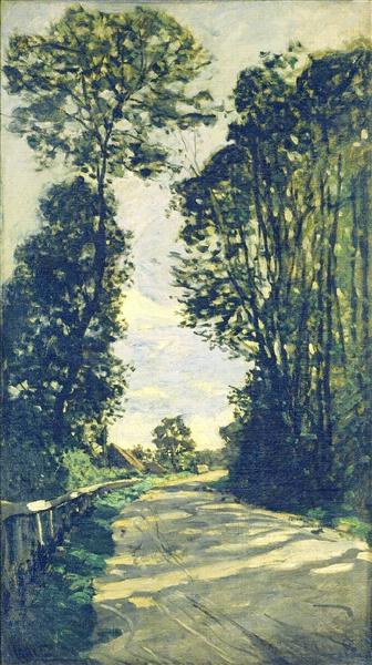 Road to the Saint-Simeon Farm - Claude Monet