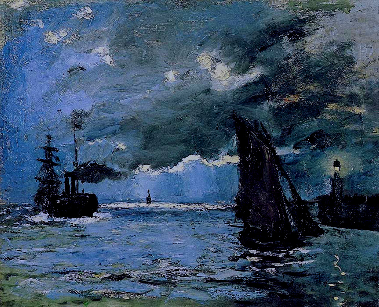 Seascape, Night Effect, 1866