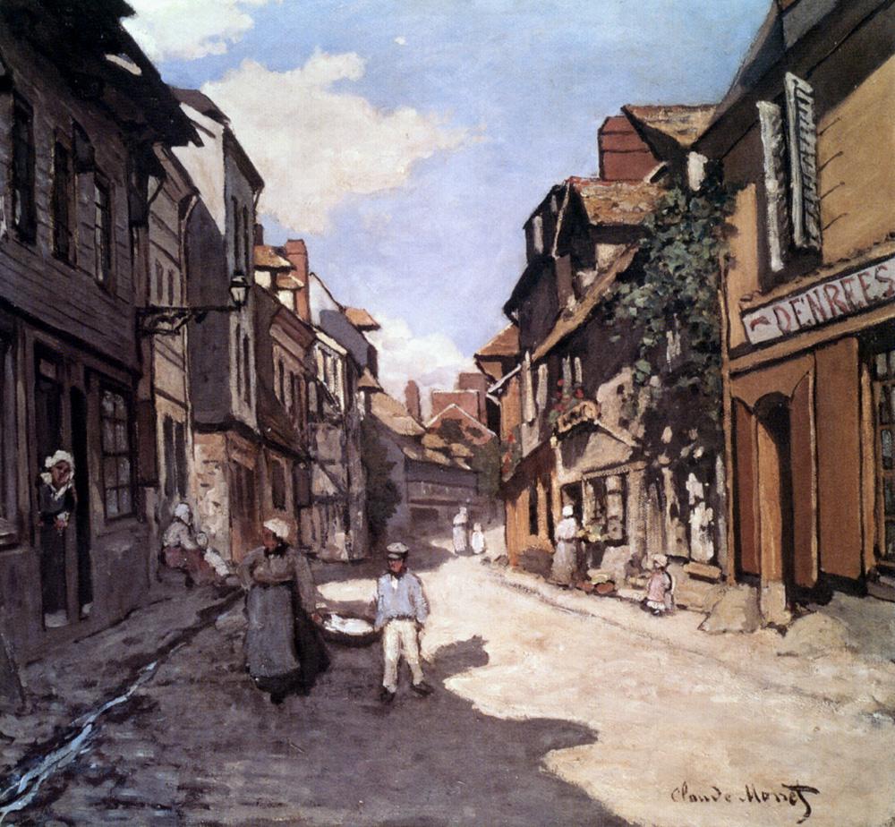 Street of the Bavolle Honfleur, 1864