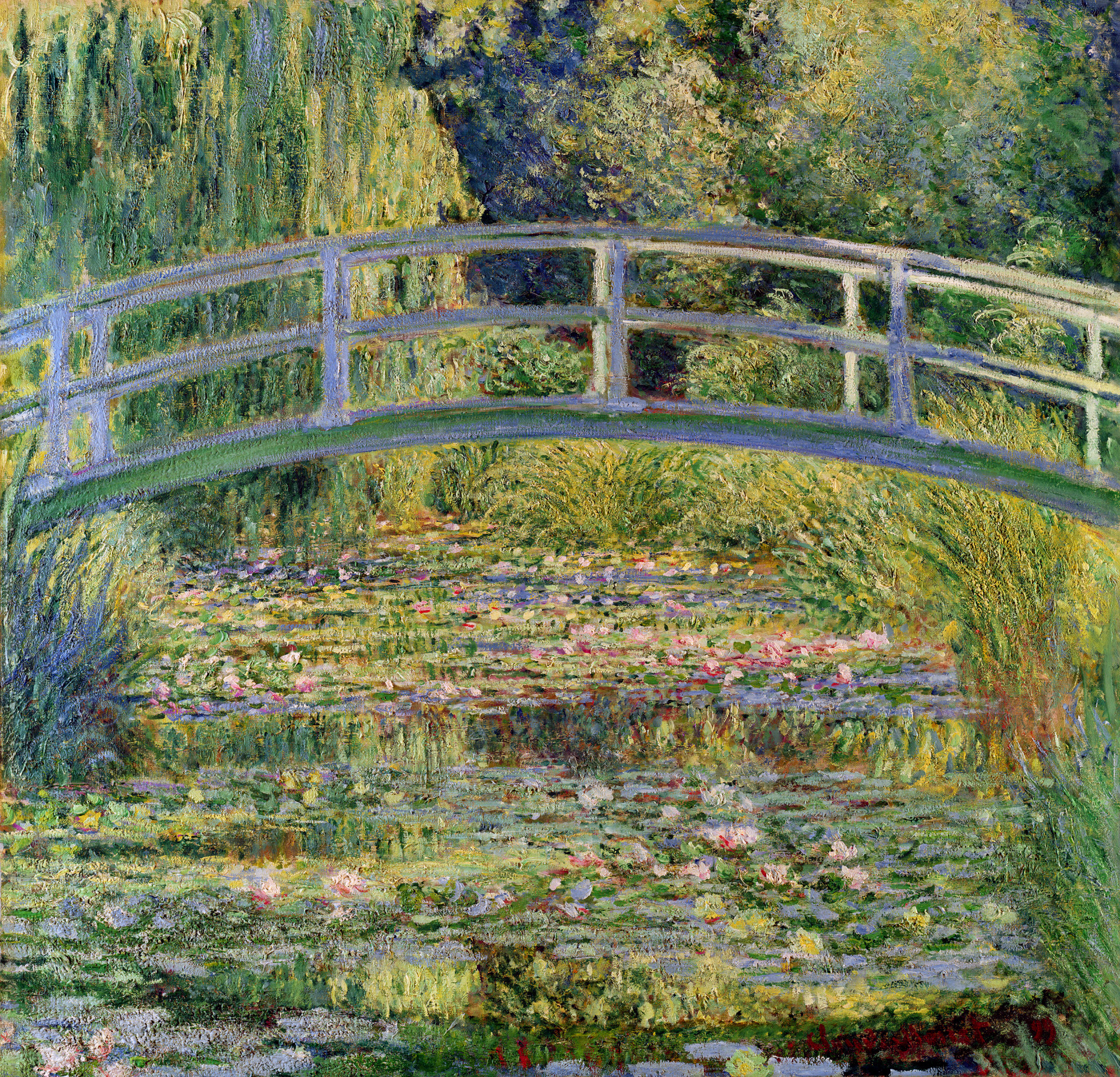 The Japanese Bridge (The Water-Lily Pond), 1899 - Claude Monet ...