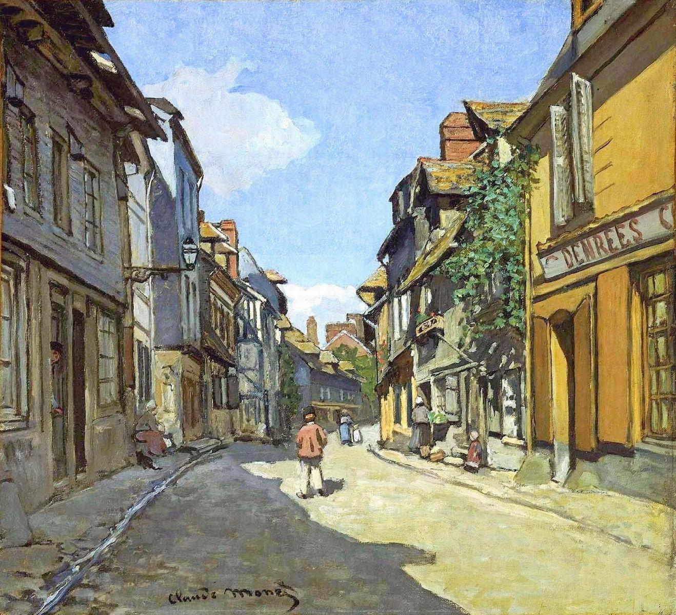 The La Rue Bavolle at Honfleur, 1864 - Claude Monet