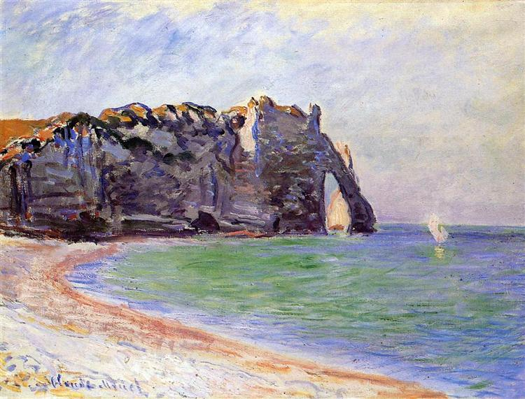 The Manneport, Etretat, the Porte d'Aval, 1885 - Claude Monet