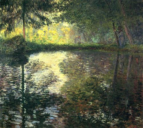 The Pond at Montgeron - Claude Monet