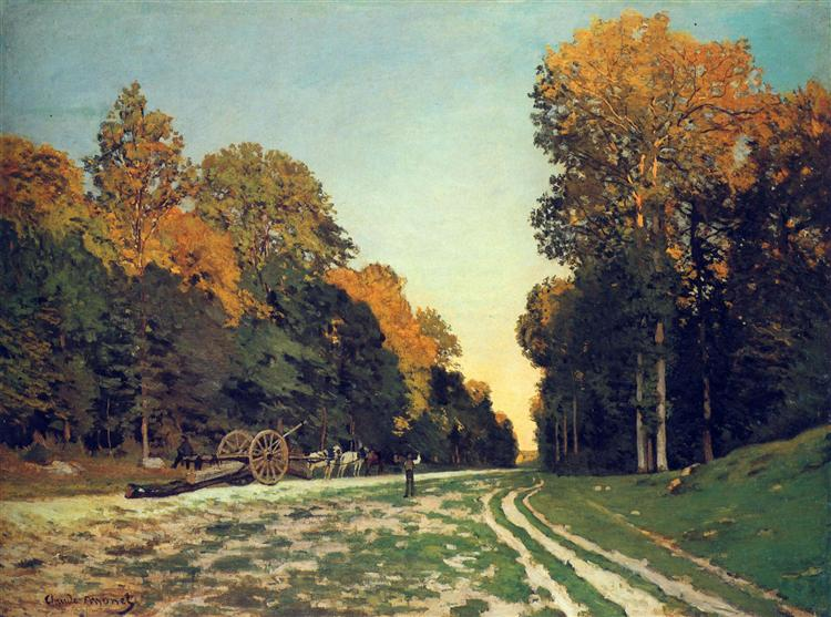The Road from Chailly to Fontainebleau - Claude Monet