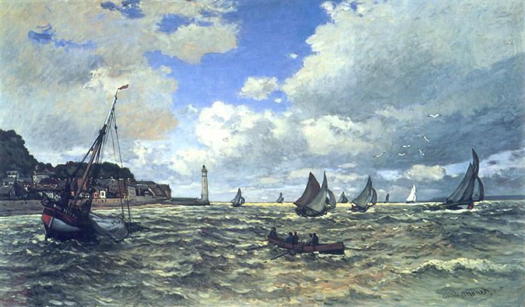 The Seine Estuary at Honfluer, 1865 - Claude Monet
