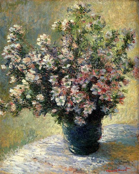 Vase Of Flowers 1882 Claude Monet Wikiart