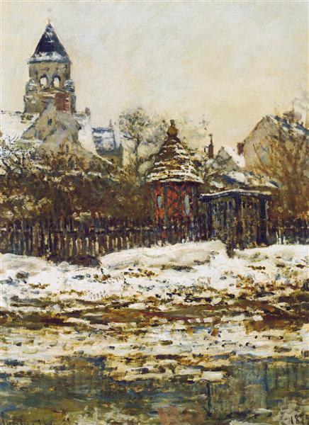 Vetheuil, The Church  in Winter, 1879 - Claude Monet