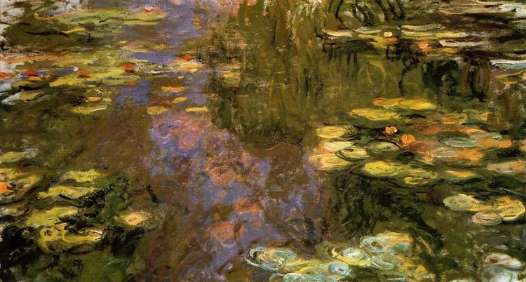 Пруд с водяными лилиями, 1917 - 1919 - Клод Моне - WikiArt.org
