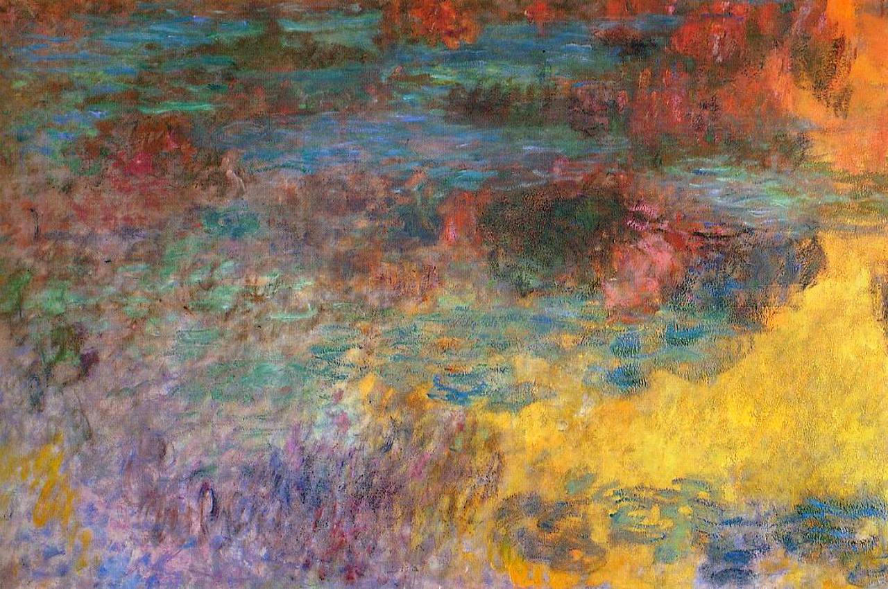 Water Lily Pond, Evening (left panel), 1920 - 1926 - Claude Monet ...
