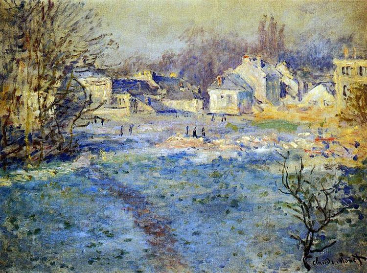 White Frost, 1875 - Claude Monet