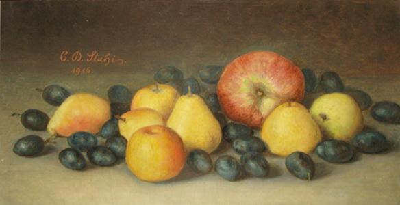 Still Life With Fruit, 1916 - Constantin Stahi